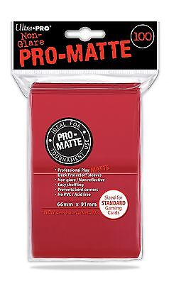 100 Bustine Protettive Ultra PRO Magic PRO MATTE STANDARD Red Rosso Buste Deck