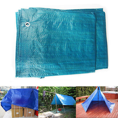 Tarpauline Camping Sheets Marksman UV Waterpoof Outdoor Shed Cover Blue 4-9ft