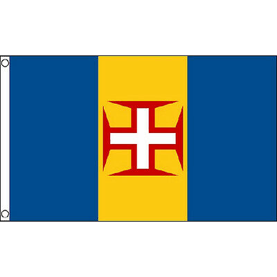 Madeira Flag 5Ft X 3Ft Madeiran Portugal Portuguese Banner With 2 Eyelets