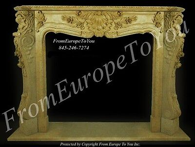 Beautiful Hand Carved French Style Fiireplace Mantel - Mbf095