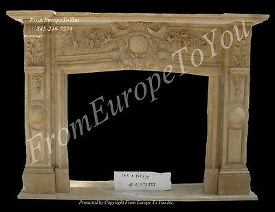 Classic Style Hand Carved Marble Fireplace Mantelfgd041