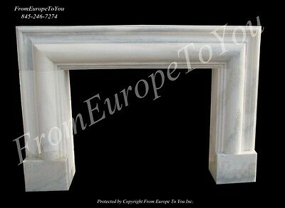 Beautiful Hand Carved Solid Marble  White  Fireplace Mantel Mfp65