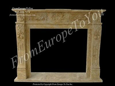 Beautiful Hand Carved Marble Fireplace Mantel- FGD009
