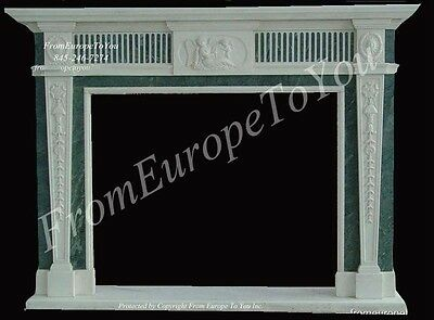 2 Tone Hand Carved Marble Fireplace Mantel Tl167