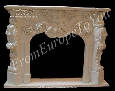 Beautiful Hand Carved Marble Fireplace Mantel Fgd057