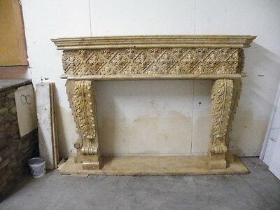 Nice Hand Carved Marble Beautiful Fireplace Mantel.rd21
