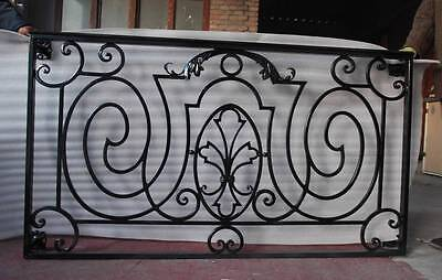 Hand Wrought Custom Solid Iron Window Victorian Exterior Estate Surround Cr1213