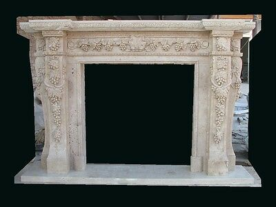 Beautiful Hand Carved Marble European Design Estate  Fireplace Mantel Mby159