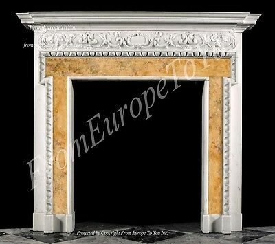 Hand Carved French Style Marble Fireplace Mantel Lm0019