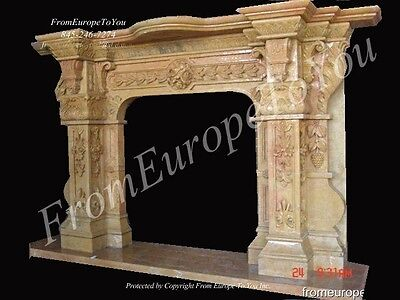 Best Hand Carved Marble Fireplace Mantel !!! Tl013