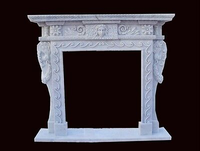 Beautiful Hand Carved Marble Fireplace Mantel Cfpm36