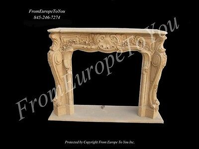 Carved Marble French Style Fireplace Mantel Mbf101