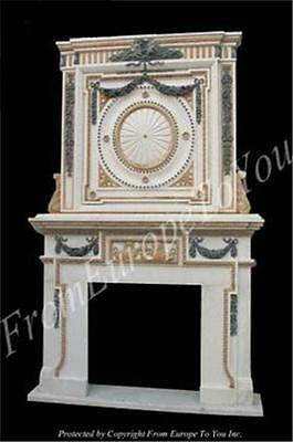 Incredible Hand Carved Marble Fireplace Mantel Ly096