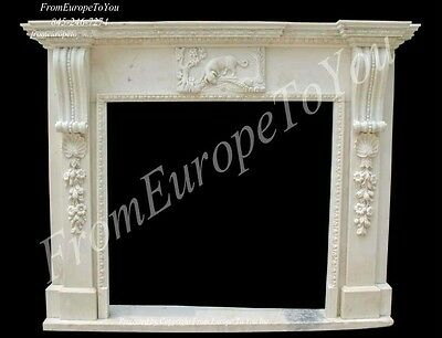 Hand Carved Marble Classical Fireplace Mantel Tle35