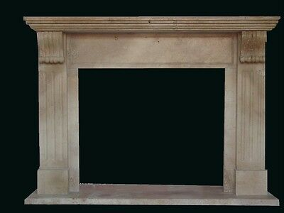 Hand Carved Travertine Marble Fireplace Mantel Tz9