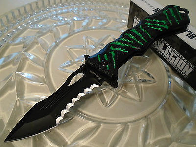 Black Legion Assisted Open Vicious Mutant Monster Scratch Pocket Knife BV145 New