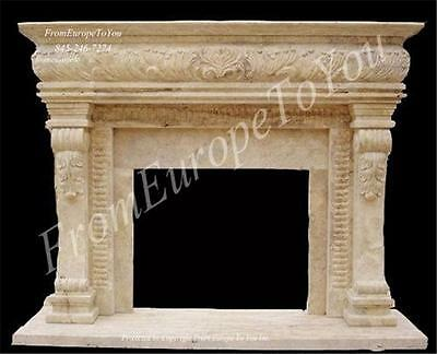 Nice Hand Carved Marble Fireplace Mantel Fgd019