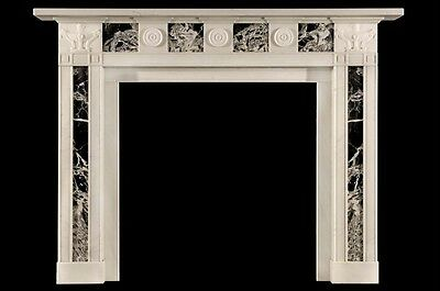 Hand Carved Marble Classical Fireplace Mantel Lm033