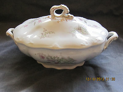Johnson Brothers China Covered Oval Serving Bowl with Handles - Royal Ironstone