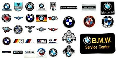 BMW Sew Iron On Patch Embroidered Motorcycles Motorrad Racing Sport Boxer Badge