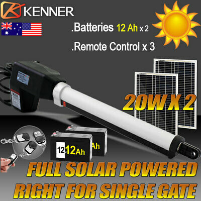 Full Solar Powered Automatic Motor Remote Swing Gate Opener Right 500KG 4.5M
