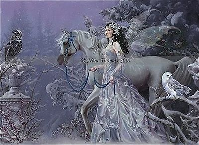 NEW Nene Thomas Winter Wings Fairy Limited Edition Print hand signed with LOA.