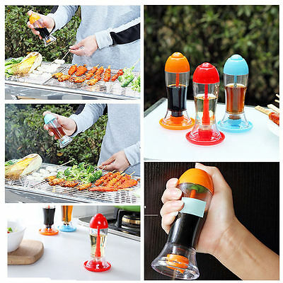 Kitchen Tool Leakproof Spray Oil Soy Condiment Bottle Vinegar For BBQ Portable