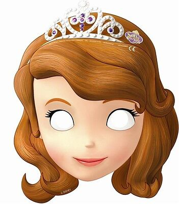 Sofia the First Card Party Face Masks | Favours 1-48pk