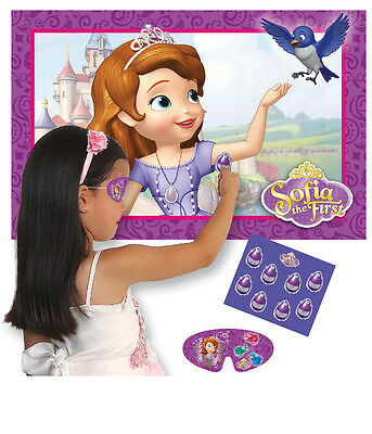 Disney Sofia the First Party Game for 2-40 Players - Pin the Tail