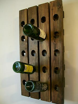 Riddling Wine Rack Wood Handmade Rustic french Country Wall Hanging