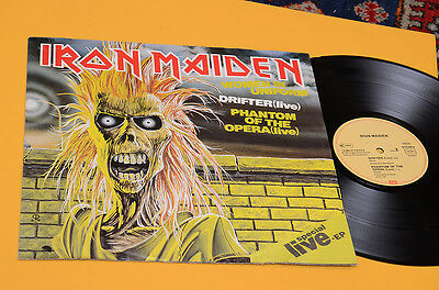 """Iron Maiden 12"""" Women In Uniform Orig Germany 1980 Rare Ep Live Special !!"""