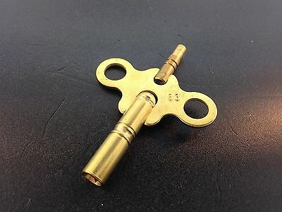 Clock Key Double End Size 8/3 size 4 mm. x 2.0 mm made of Brass