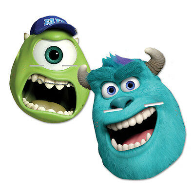 Monsters University | Mike | Sulley Card Party Face Masks | Favours 1-48pk