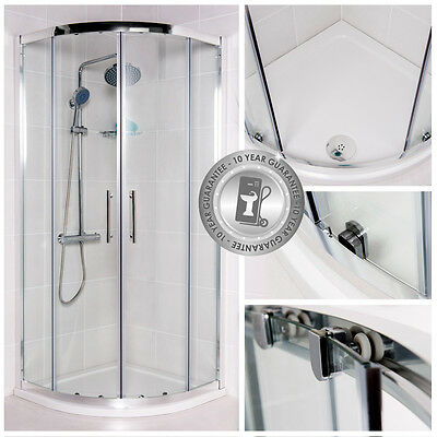 Shower Enclosure Quadrant Walk In Cubicle Including Tray and Waste 6mm 3M Glass