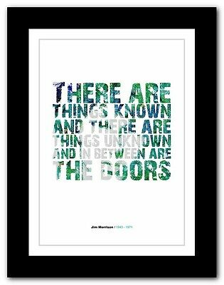 Jim Morrison ❤ typography quote poster art limited edition print The Doors #48