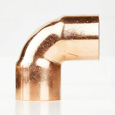"1/2"" ID Copper 90 Degree Ell Elbow Plumbing CxC Sweat Fitting"