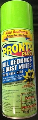Pronto Plus Bedbug & Dust Mite Spray 10 oz. Elimina las chinches y acaros.