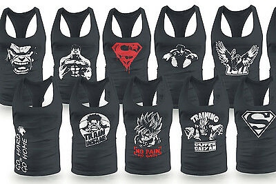 Mens Bodybuilding RACERBACK MMA MUSCLE VEST TANK TOP STRINGER GYM LOW SCOOP NECK
