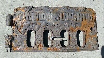 Banner superior cast iron stove vent