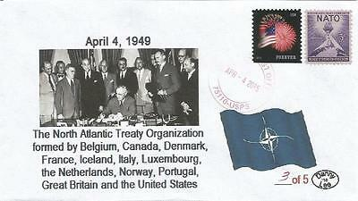 April 4, 1949 Founding of NATO #3 of 5 Cachet Cover