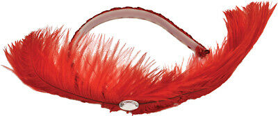 Morris Costumes Feather Sequin Dance Large Hall Plastic Red Headpiece. BC25RD