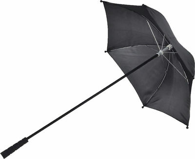 Morris Costumes New Plastic Nylon Wooden Handle 28 inches Black Parasol. BB30BK