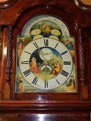 STUNNING MID 19TH CENTURY WELSH 8DAY LONGCASE GRANDFATHER CLOCK RARE MOONPHASE