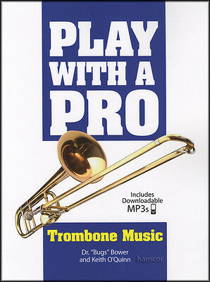 Play with a Pro Trombone Sheet Music Book & DLC Audio Access Play-Along