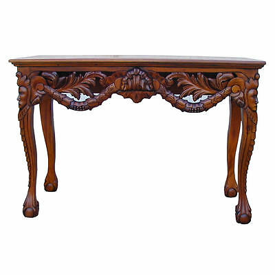 Chippendale Console Hall Table - Mahogany