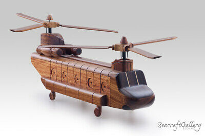 Boeing Chinook Handmade Wooden Scale Model Aircraft Helicopters Military Gifts