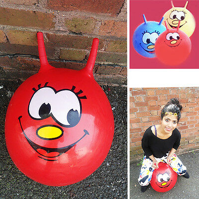"""Kids Space Hopper Inflatable 20""""/23"""" Jumping Bouncing Outdoor Play Hopperz Ball"""