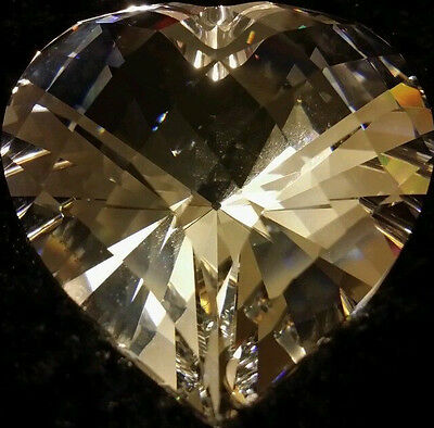SWAROVSKI SPARKLING HEART 656680 PAPERWEIGHT PRISM CLEAR CRYSTAL FACETED marked
