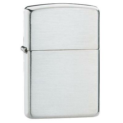Zippo Lighter - Brushed Sterling Silver, 13, Free Shipping