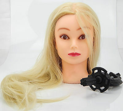 50 % Real Human Hair Cosmetology Training Mannequin Head White